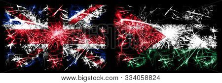 Great Britain, United Kingdom Vs Jordan, Jordanian New Year Celebration Travel Sparkling Fireworks F