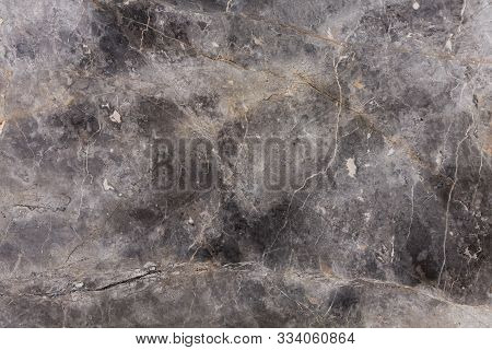 Close Up Of Dark Grey Marble Texture.