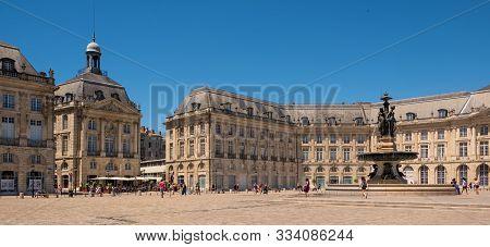Bordeaux, France, - June, 20, 2018:  Place De La Bourse, Bordeaux, France.