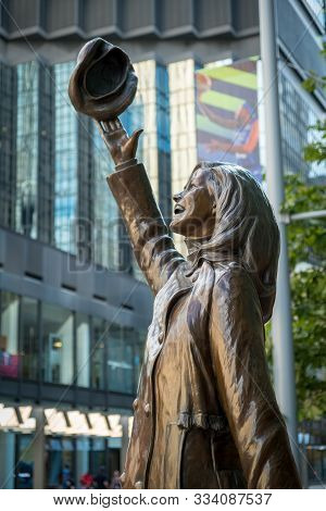 Minneapolis, Usa, - August, 11, 2019: The Mary Tyler Moore Statue In Minneapolis, Usa.