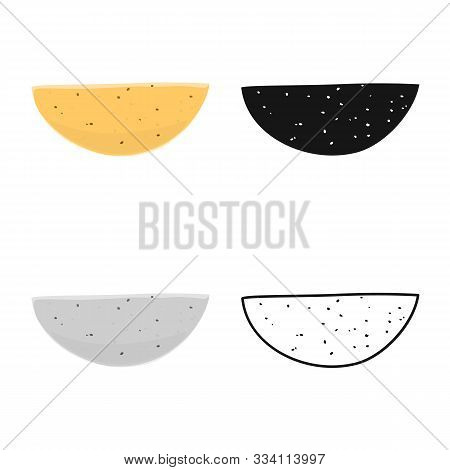 Vector Design Of Pancake And Flapjack Logo. Graphic Of Pancake And Dessert Stock Vector Illustration