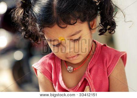 Cute Indian little girl.