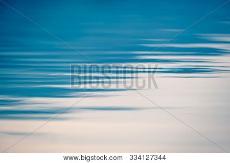 Clear Still Blue Sea, Water Seascape Abstract Background