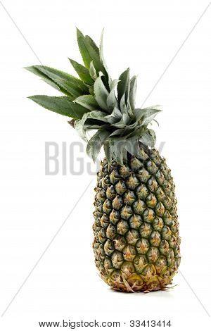 whole pinapple on white