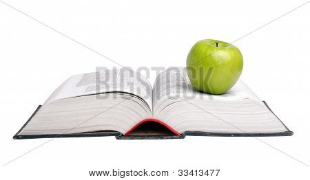 apple over a book