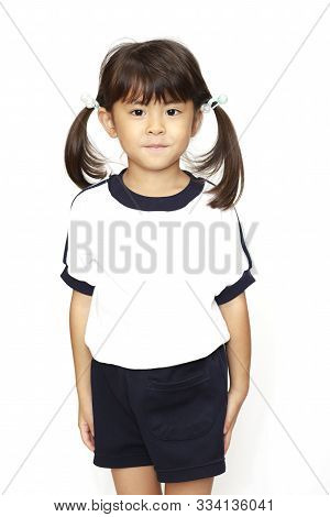 Japanese Girl In Sportswear (4 Years Old) (white Back)