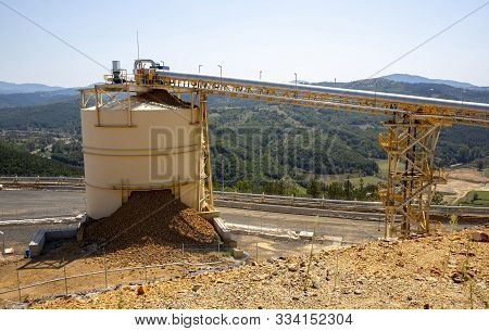 Mining Elevators Are Seen In A Gold Mine Processing Plant.
