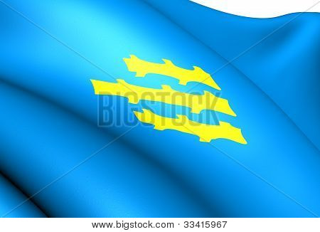 Flag Of Sondre Land, Norway.
