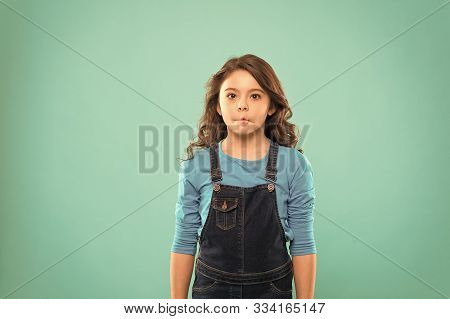 Funny Grimaces. Girl Artistic Kid Practicing Acting Skill. Enter Acting Academy. Playful Teen Model.