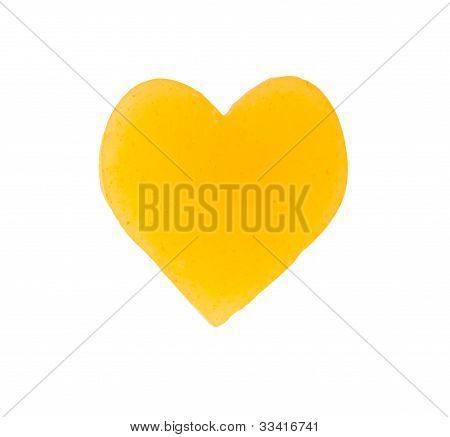 Heart Gold On A White Background