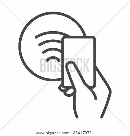 Nfc Sign. Contactless Payments Symbol, Electronic Pay By Phone For Payment Terminal Vector Illustrat