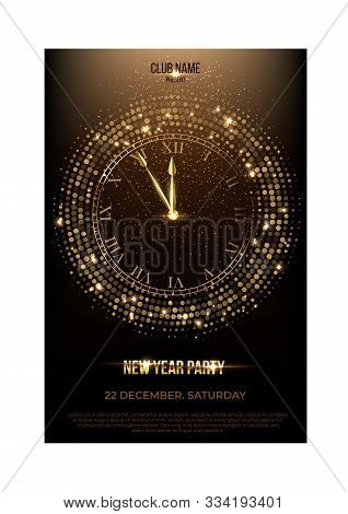 Invitation Flyer Join To Celebration New Year And Christmas Eve Party In Night Club. Place For Compa