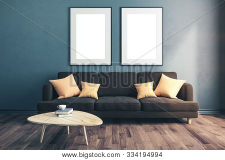 Modern Room With Empty Two Poster