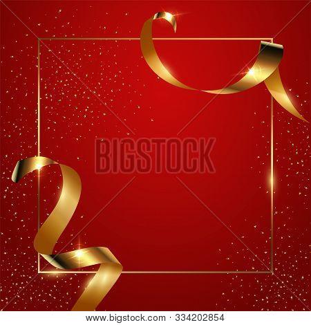 Red Gradient Background Vector Illustration. Elegant Colorful Wallpaper Design. Creative Backdrop Wi