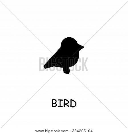 Bird Flat Vector Icon. Hand Drawn Style Design Illustrations.