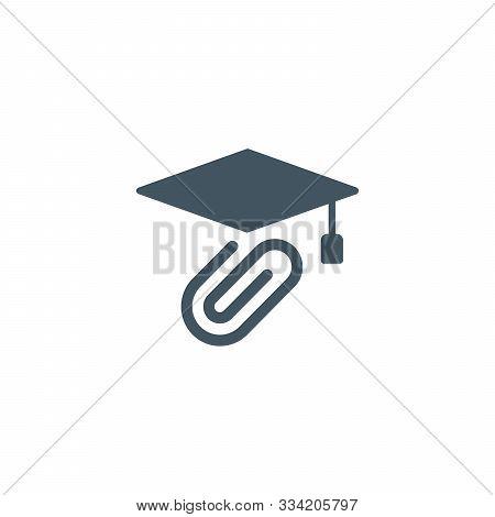 Graduation Cap Icon. Stock Vector Illusration Isolated On White Backgraund.