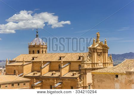 Aerial View Of The San Patricio Church In Lorca, Spain