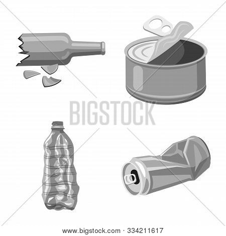 Isolated Object Of Dump And Sort Logo. Set Of Dump And Junk Stock Vector Illustration.