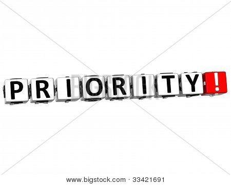3D Priority Crossword