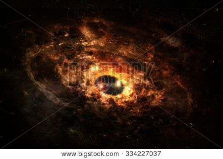 Powerful Explosion Of Supernova. Elements Of This Image Furnished By Nasa.