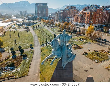 Russia, Vladikavkaz - November 04, 2019: Monument Of Issa Pliev. Soviet Military Leader, Army Genera