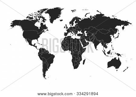 Detailed, High Resolution, Accurate Vector Map Of The World