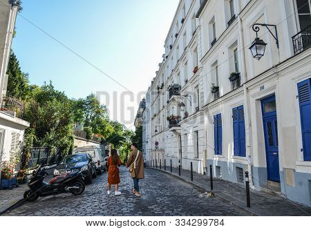 Beautiful Old Street In Montmartre District