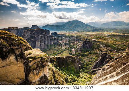 Beautiful Meteora Landscape - Thessaly, Greece, Europe