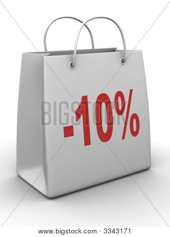 Shopping Bag With Percent