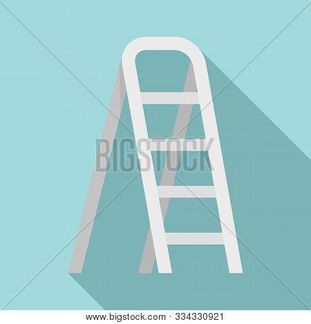 Aluminium Ladder Icon. Flat Illustration Of Aluminium Ladder Vector Icon For Web Design