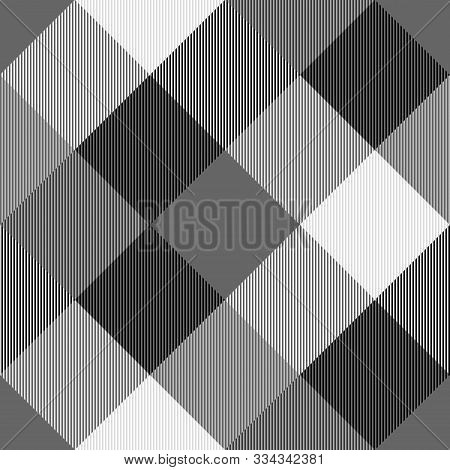 Tartan Seamless Grey Pattern Background, Vector Illustration