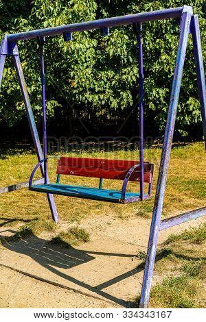 Iron Swing In The Playground.iron Swing In The Playground