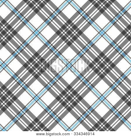 Tartan Seamless Diagonal Pattern Background, Vector Illustration