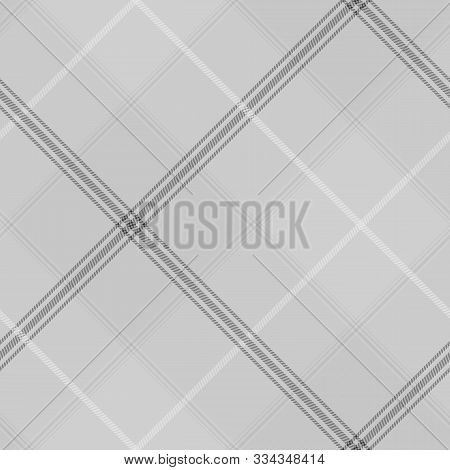 Tartan Seamless Pattern Grey  Background, Vector Illustration