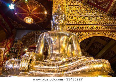 Buddha Silver In Ubosot Wat Srisuphan, Chiangmai Thailand