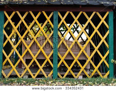Arbor Painted In Different Colors.arbor Painted In Different Colors
