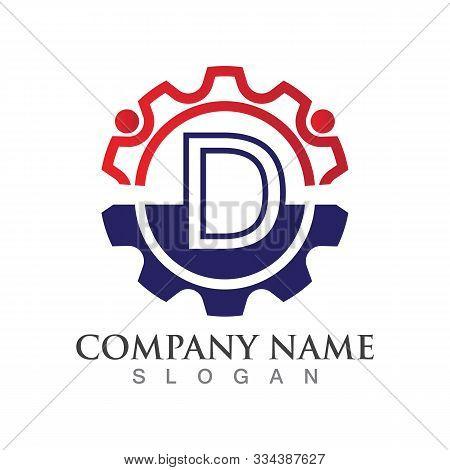 D Letter Logo Or Symbol Creative Template Design