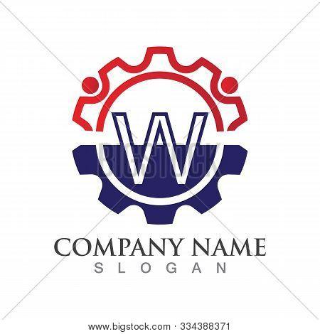 W Letter Logo Or Symbol Creative Template Design