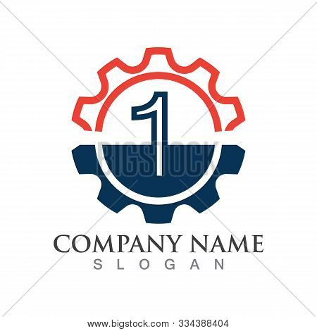 Number 1 Logo Or Symbol Creative Template Design