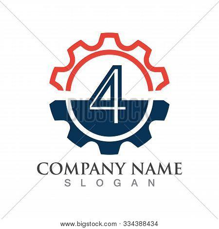 Number 4  Logo Or Symbol Creative Template Design