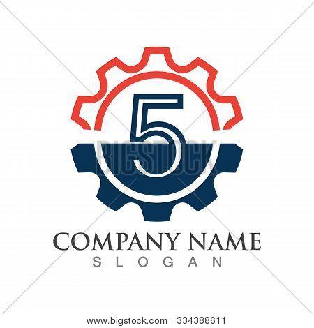 Number 5  Logo Or Symbol Creative Template Design