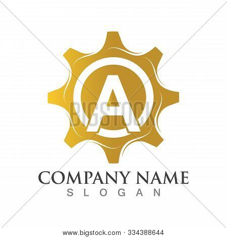 A Letter Logo Or Symbol Creative Gear Template