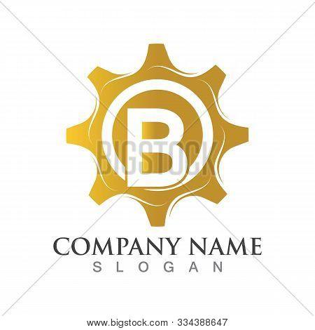 B Letter Logo Or Symbol Creative Gear Template