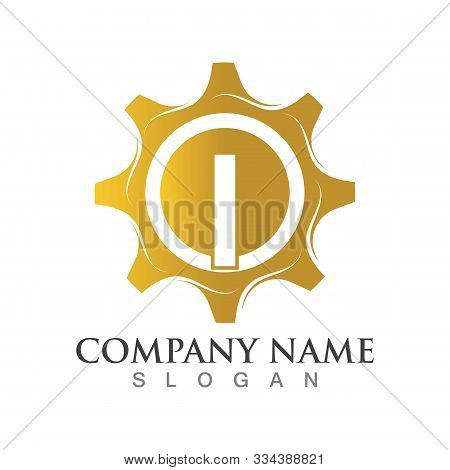 I Letter Logo Or Symbol Creative Gear Template