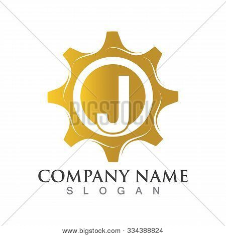 J Letter Logo Or Symbol Creative Gear Template