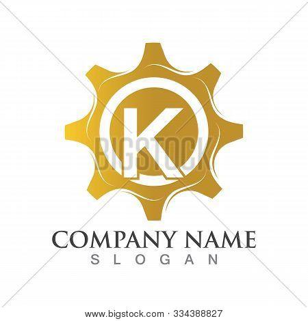 K Letter Logo Or Symbol Creative Gear Template