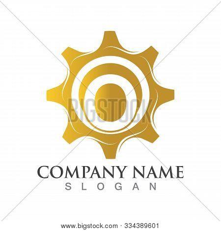 O Letter Logo Or Symbol Creative Gear Template