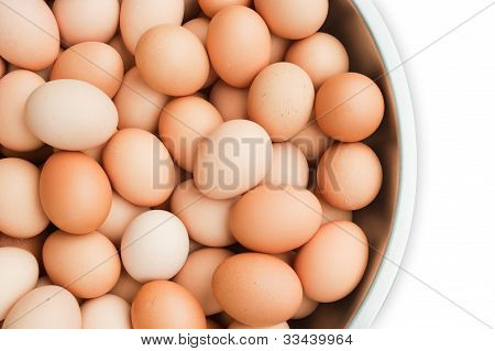 Hens Eggs In Background