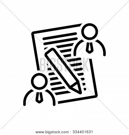 Black Line Icon For  Client-brief  Client Brief  Consultation