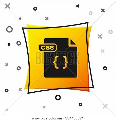 Black Css File Document. Download Css Button Icon Isolated On White Background. Css File Symbol. Yel